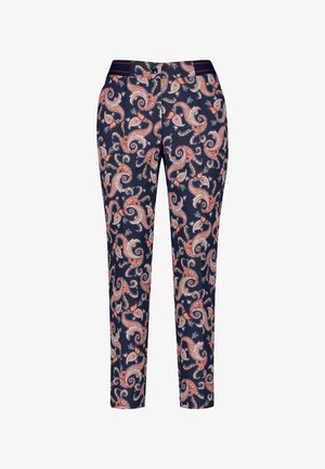 Trousers - navy sienna druck