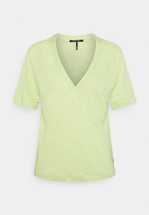 CLASSIC TEE WITH V NECKLINE - Basic T-shirt - seaweed