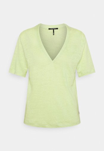 CLASSIC TEE WITH V NECKLINE - T-shirt basic - seaweed