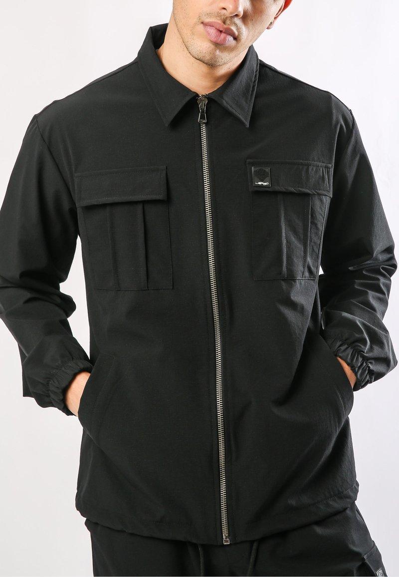 Ed Hardy - URBAN-TIGER NYLON POLY STRETCH SHACKET - Summer jacket - black