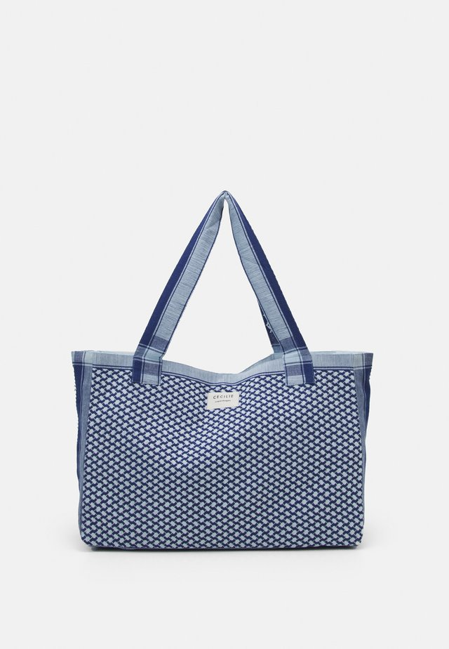 BAG LARGE SIGNATURE - Cabas - twilight blue