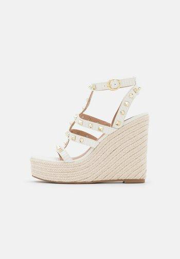 SALLINA - Platform sandals - white