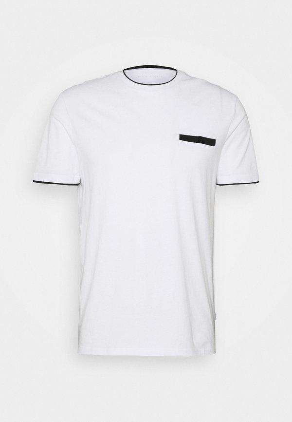 Pier One T-shirt z nadrukiem - white/biały Odzież Męska FFBD