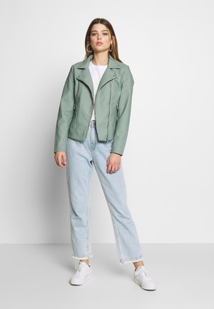 ONLMELANIE  - Faux leather jacket - chinois green