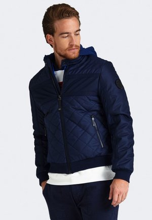 BLOCKING  - Bomber Jacket - blue
