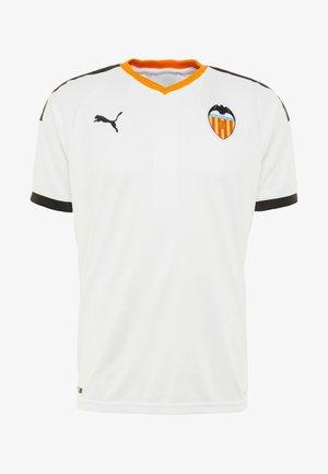 VALENCIA FC HOME  - Club wear - white/black/vibrant orange