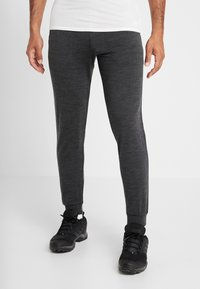 Icebreaker - MENS SHIFTER PANTS - Tracksuit bottoms - mottled black - 0