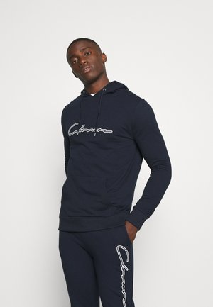 DOUBLE SCRIPT TRACKSUIT SET - Sweat à capuche - navy