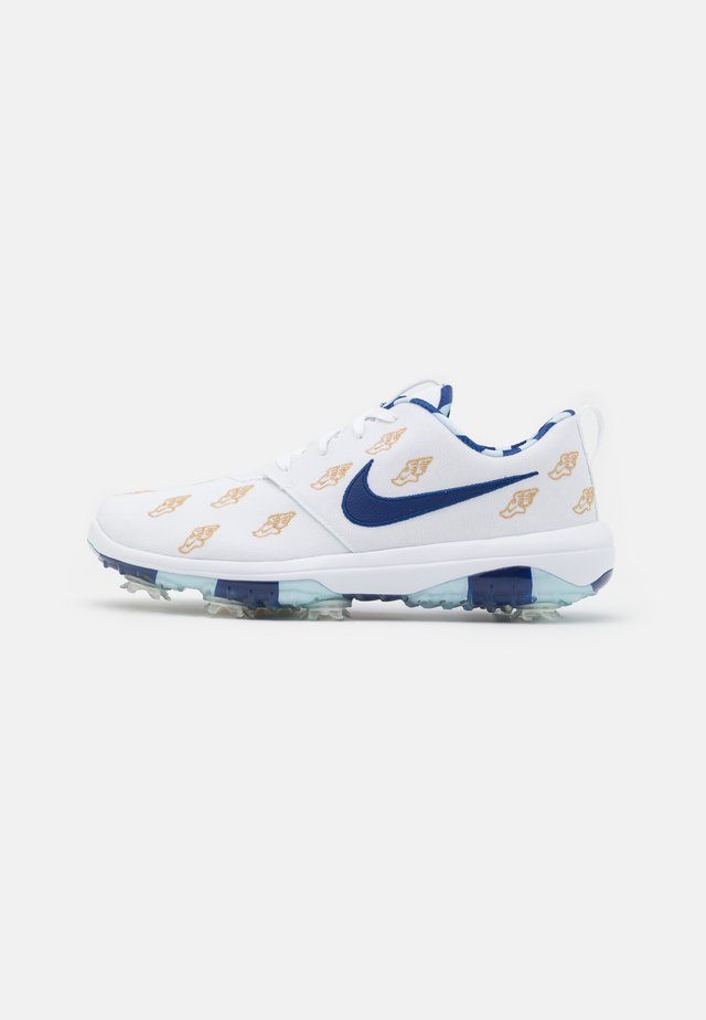 ROSHE G TOUR - Zapatos de golf - white/deep royal/topaz mist/celestial gold