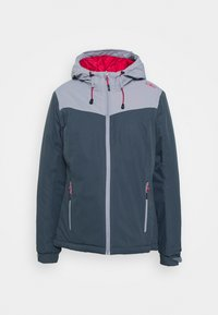 WOMAN JACKET FIX HOOD - Hardshell jacket - titanio