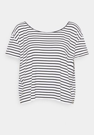 LADIES TEE - Print T-shirt - offwhite/black