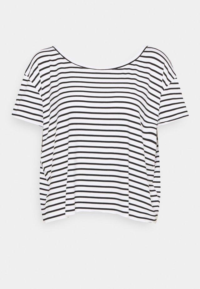 LADIES TEE - T-shirt z nadrukiem - offwhite/black