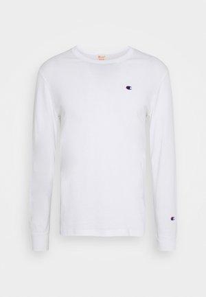 CREWNECK LONG SLEEVE - Pitkähihainen paita - white