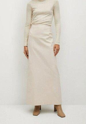 COFI7-A - A-line skirt - open beige