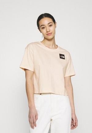 CROPPED FINE TEE - Printtipaita - pink tint