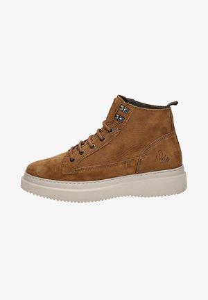 MORRIS - Lace-up ankle boots - cognac