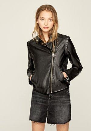 PINA - Faux leather jacket - black