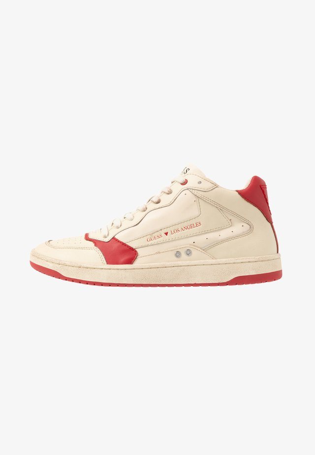 PESARO MID - Sneakersy wysokie - white/red