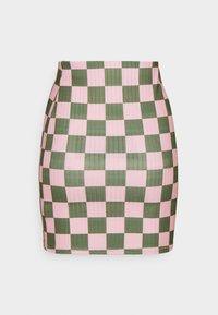 NEW girl ORDER - CHECKERBOARD MINI SKIRT - Mini skirt - pink - 1
