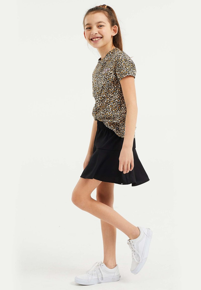 WE Fashion - T-shirt print - white/black/orange