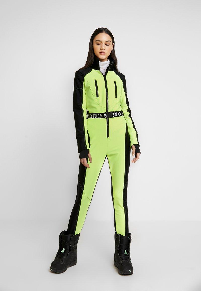 Topshop - SNO NEON STAR - Tuta jumpsuit - yellow