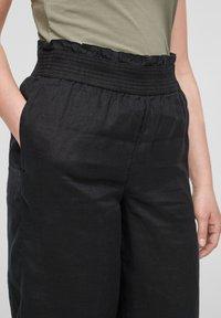 s.Oliver - Trousers - black melange - 4