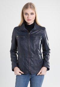 7eleven - SISSY - Leather jacket - navy - 0