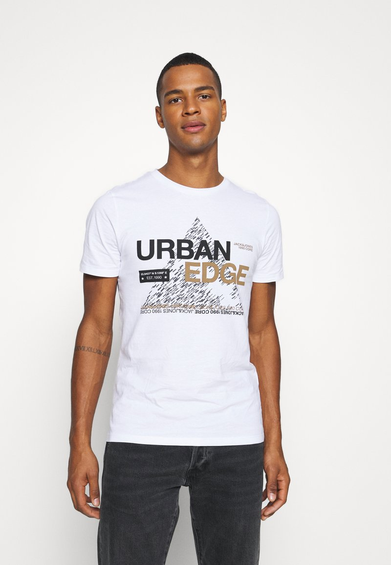 Jack & Jones - JCOBOOSTER TEE CREW NECK - T-Shirt print - white