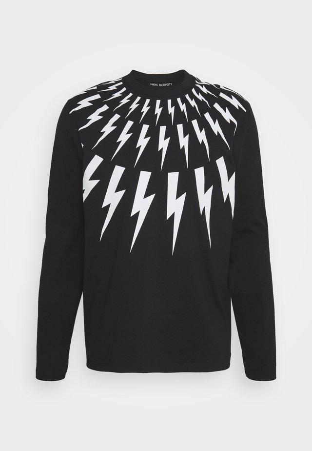 THUNDERBOLT LONG SLEEVE - Pitkähihainen paita - black/white