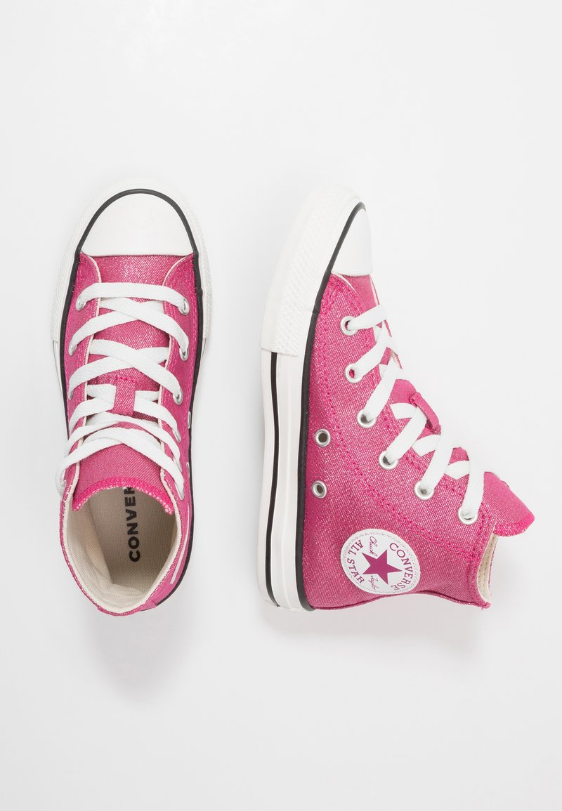 Converse - CHUCK TAYLOR ALL STAR - High-top trainers - cerise pink/natural ivory