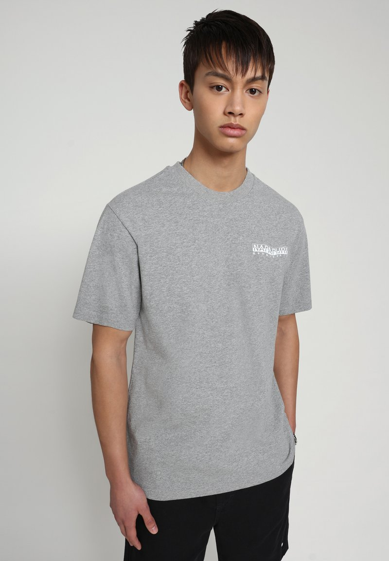Napapijri - SOLE GRAPHIC - Print T-shirt - medium grey melange