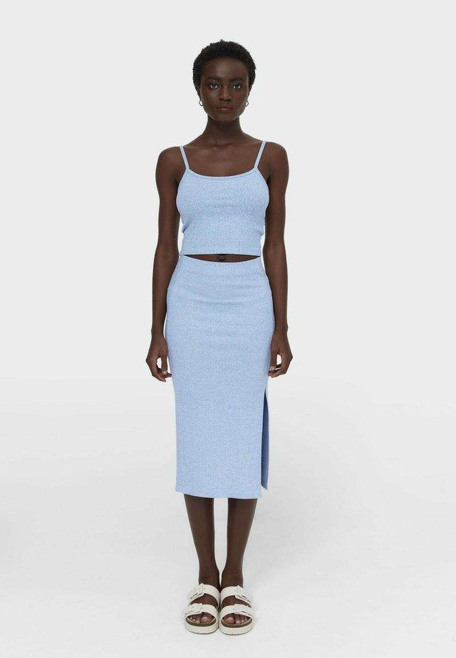 Blyantnederdel / pencil skirts - light blue