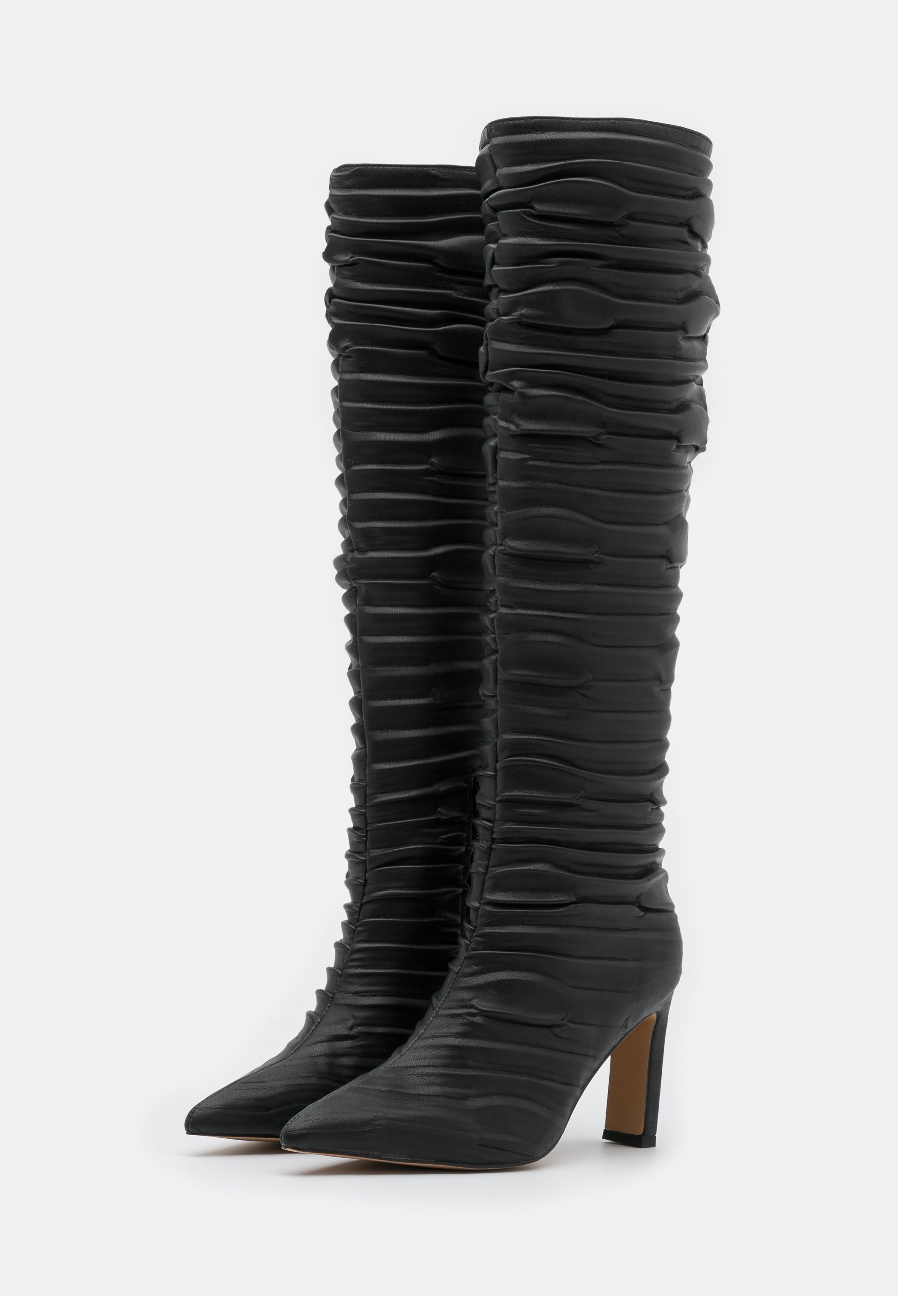 NA KD SLOUCHY STRUCTURED SHAFT BOOTS Saappaat black