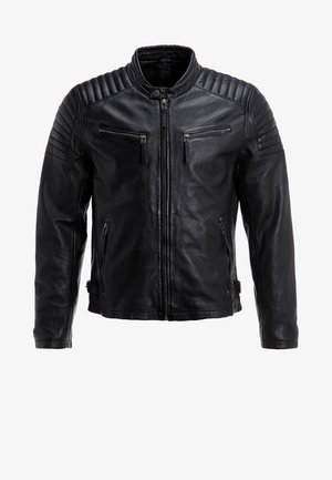 CHESTER - Leather jacket - schwarz