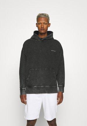 OVERSIZED DARK ACID WASH HOOD - Sweatshirt - grey