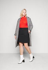 Even&Odd Curvy - Mini skirt - black - 1