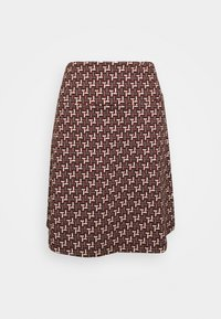 King Louie - BORDER SKIRT NOSHI - A-line skirt - henna red - 0