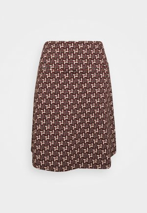BORDER SKIRT NOSHI - A-line skirt - henna red