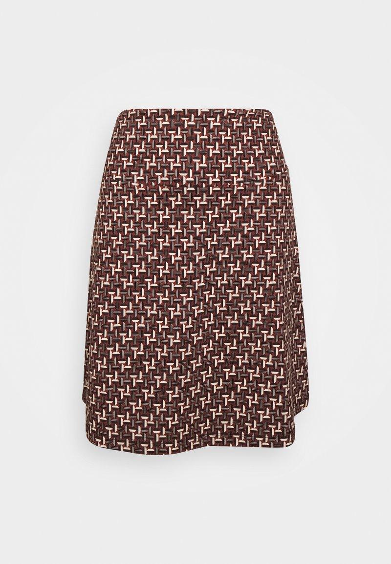 King Louie - BORDER SKIRT NOSHI - A-line skirt - henna red
