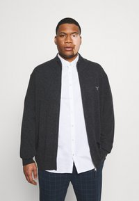GANT - PLUS EXTRAFINE ZIP CARDIGAN  - Kofta - antracit melange - 4