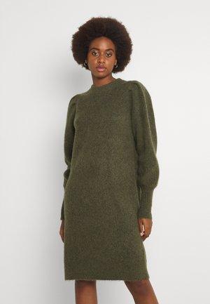 SLFLINNA-MIA O-NECK DRESS - Jumper dress - kalamata