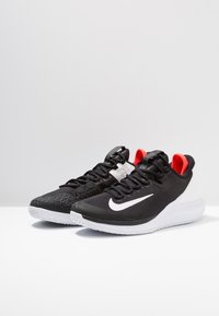 Nike Performance - AIR ZOOM HC - Multicourt tennis shoes - black/white/bright crimson - 2