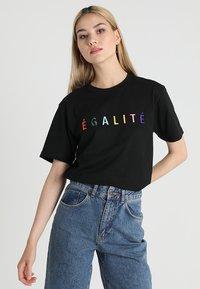 Merchcode - EGALITE TEE - Print T-shirt - black - 0