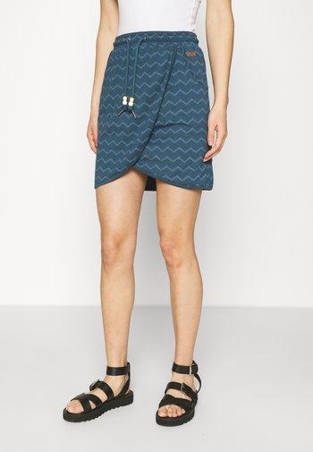 NAILA - Mini skirt - navy
