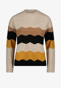 Betty & Co - MIT INTARSIE - Jumper - cream/yellow - 0