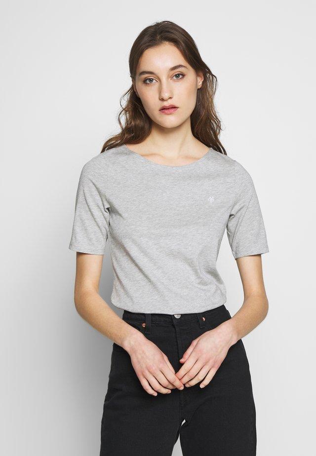 SHORT SLEEVE ROUNDNECK - Camiseta básica - pebble melange