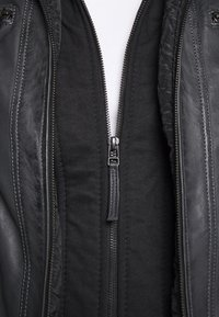 Serge Pariente - ERIC HOOD - Leather jacket - black - 7