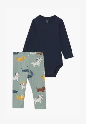 DOGS AND NAVY SET - Leggings - Trousers - navy
