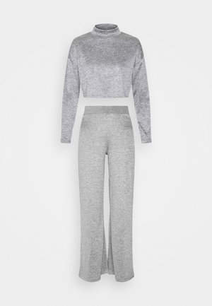 SALLY SET - Topper langermet - grey melange