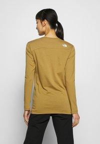 The North Face - WOMENS SIMPLE DOME TEE - Bluzka z długim rękawem - british khaki - 2